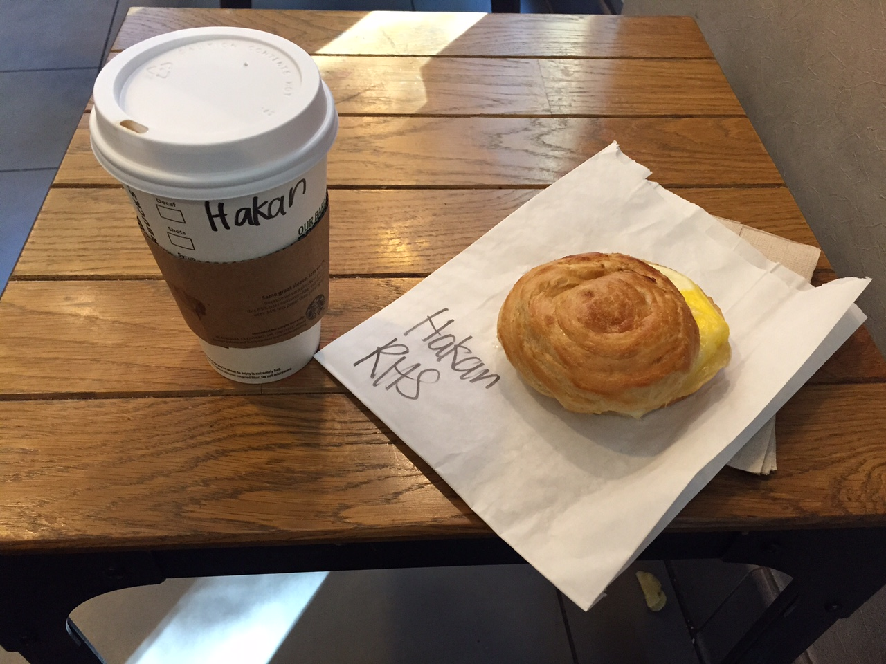 Important work being done in San Jose today. Breakfast is essential. Starbucks is a life saver.