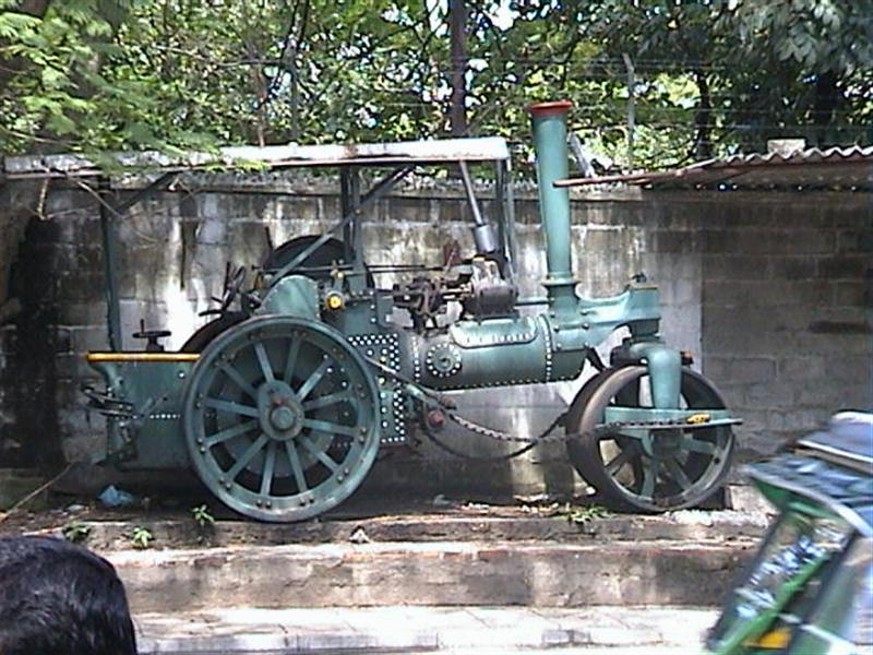 Old steam powered tractor in Colombo, Sri Lanka